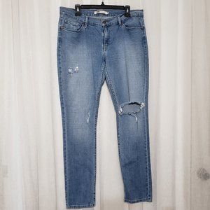 Levi's Jeans 524 Distressed Skinny Jeans Size 13